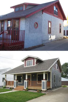 House renovation - before and after